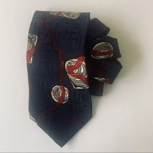 Deco Mode vintage silk tie- EUC